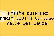 GAITÁN QUINTERO MARÍA JUDITH Cartago Valle Del Cauca
