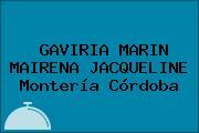 GAVIRIA MARIN MAIRENA JACQUELINE Montería Córdoba