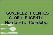 GONZÃLEZ FUENTES CLARA EUGENIA Montería Córdoba