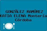 GONZÃLEZ RAMÚREZ KATIA ELENA Montería Córdoba