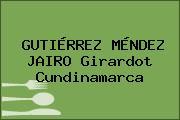 GUTIÉRREZ MÉNDEZ JAIRO Girardot Cundinamarca