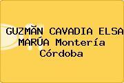 GUZMÃN CAVADIA ELSA MARÚA Montería Córdoba