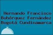 Hernando Francisco Bohórquez Fernández Bogotá Cundinamarca