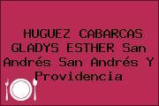 HUGUEZ CABARCAS GLADYS ESTHER San Andrés San Andrés Y Providencia