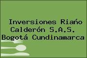 Inversiones Riaño Calderón S.A.S. Bogotá Cundinamarca
