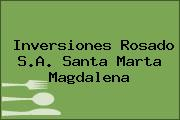 Inversiones Rosado S.A. Santa Marta Magdalena