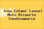 Jose Edimer Leonel Melo Ricaurte Cundinamarca