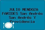 JULIO MENDOZA FARIDES San Andrés San Andrés Y Providencia