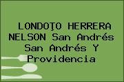 LONDOÞO HERRERA NELSON San Andrés San Andrés Y Providencia