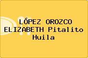 LÓPEZ OROZCO ELIZABETH Pitalito Huila