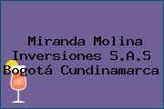 Miranda Molina Inversiones S.A.S Bogotá Cundinamarca