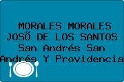 MORALES MORALES JOSÕ DE LOS SANTOS San Andrés San Andrés Y Providencia