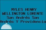 MYLES HENRY WELLINGTON LORENTE San Andrés San Andrés Y Providencia