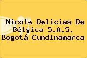 Nicole Delicias De Bélgica S.A.S. Bogotá Cundinamarca
