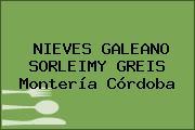 NIEVES GALEANO SORLEIMY GREIS Montería Córdoba