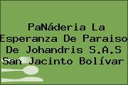PaNáderia La Esperanza De Paraiso De Johandris S.A.S San Jacinto Bolívar