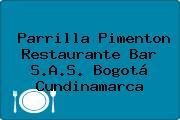 Parrilla Pimenton Restaurante Bar S.A.S. Bogotá Cundinamarca