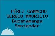 PÉREZ CAMACHO SERGIO MAURICIO Bucaramanga Santander