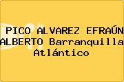 PICO ALVAREZ EFRAÚN ALBERTO Barranquilla Atlántico