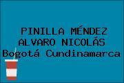 PINILLA MÉNDEZ ALVARO NICOLÁS Bogotá Cundinamarca