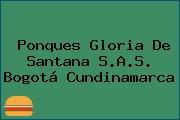 Ponques Gloria De Santana S.A.S. Bogotá Cundinamarca