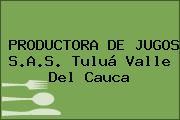 PRODUCTORA DE JUGOS S.A.S. Tuluá Valle Del Cauca
