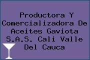 Productora Y Comercializadora De Aceites Gaviota S.A.S. Cali Valle Del Cauca