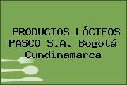 PRODUCTOS LÁCTEOS PASCO S.A. Bogotá Cundinamarca