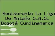Restaurante La Liga De Antaño S.A.S. Bogotá Cundinamarca