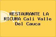RESTAURANTE LA RICURA Cali Valle Del Cauca