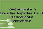 Restaurante Y Comidas Rapidas La 9 Piedecuesta Santander