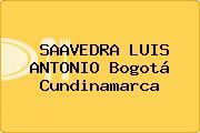SAAVEDRA LUIS ANTONIO Bogotá Cundinamarca