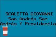 SCALETTA GIOVANNI San Andrés San Andrés Y Providencia