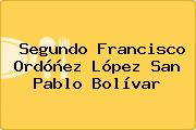 Segundo Francisco Ordóñez López San Pablo Bolívar