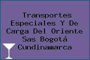 Transportes Especiales Y De Carga Del Oriente Sas Bogotá Cundinamarca