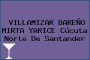 VILLAMIZAR BAREÑO MIRTA YARICE Cúcuta Norte De Santander