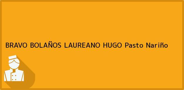 Teléfono, Dirección y otros datos de contacto para BRAVO BOLAÑOS LAUREANO HUGO, Pasto, Nariño, Colombia