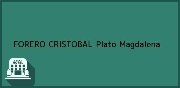 Teléfono, Dirección y otros datos de contacto para FORERO CRISTOBAL, Plato, Magdalena, Colombia
