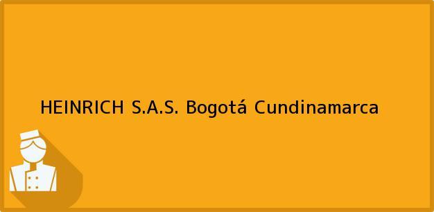 Teléfono, Dirección y otros datos de contacto para HEINRICH S.A.S., Bogotá, Cundinamarca, Colombia