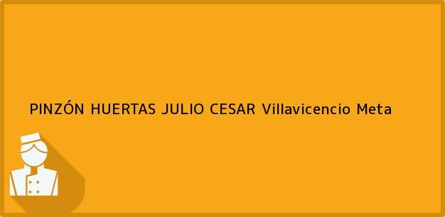 Teléfono, Dirección y otros datos de contacto para PINZÓN HUERTAS JULIO CESAR, Villavicencio, Meta, Colombia