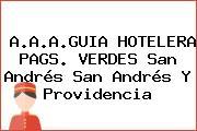 A.A.A.GUIA HOTELERA PAGS. VERDES San Andrés San Andrés Y Providencia