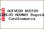 ACEVEDO BUSTOS CARLOS ADONAY Bogotá Cundinamarca