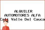 ALQUILER AUTOMOTORES ALFA Cali Valle Del Cauca