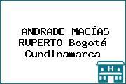ANDRADE MACÍAS RUPERTO Bogotá Cundinamarca