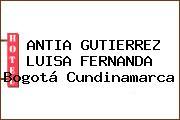 ANTIA GUTIERREZ LUISA FERNANDA Bogotá Cundinamarca