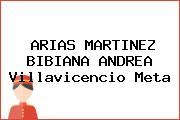 ARIAS MARTINEZ BIBIANA ANDREA Villavicencio Meta