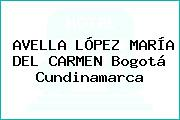 AVELLA LÓPEZ MARÍA DEL CARMEN Bogotá Cundinamarca