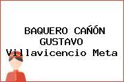 BAQUERO CAÑÓN GUSTAVO Villavicencio Meta