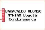 BARACALDO ALONSO MYRIAM Bogotá Cundinamarca
