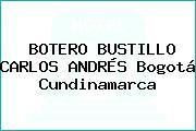 BOTERO BUSTILLO CARLOS ANDRÉS Bogotá Cundinamarca